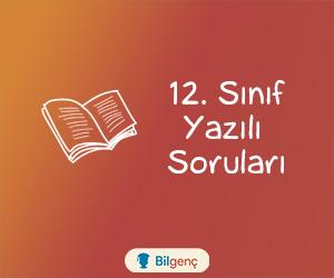 12. Sınıf Türk Dili ve Edebiyatı 1. Dönem 2. Yazılı Soruları (2020-2021)