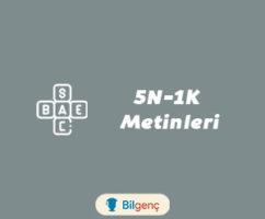 1. Sınıf 5N 1K Metinleri-Cümleleri-Örnekleri (2018-2019)