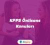 2020 KPSS Önlisans Konuları ve Soru Dağılımı (ÖSYM)