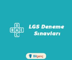 8. Sınıf LGS Deneme Sınavı İndir 2021 (PDF) MEB