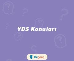 2019 YDS Konuları ve Soru Dağılımı (ÖSYM)