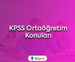 2022 KPSS Ortaöğretim Konuları ve Soru Dağılımı (ÖSYM)