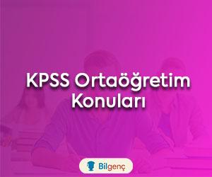 2020 KPSS Ortaöğretim Konuları ve Soru Dağılımı (ÖSYM)