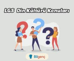 2021 LGS Din Kültürü Konuları ve Soru Dağılımı MEB