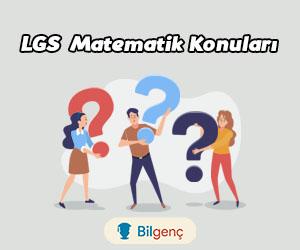 2020 LGS Matematik Konuları ve Soru Dağılımı MEB