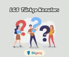 2021 LGS Türkçe Konuları ve Soru Dağılımı MEB